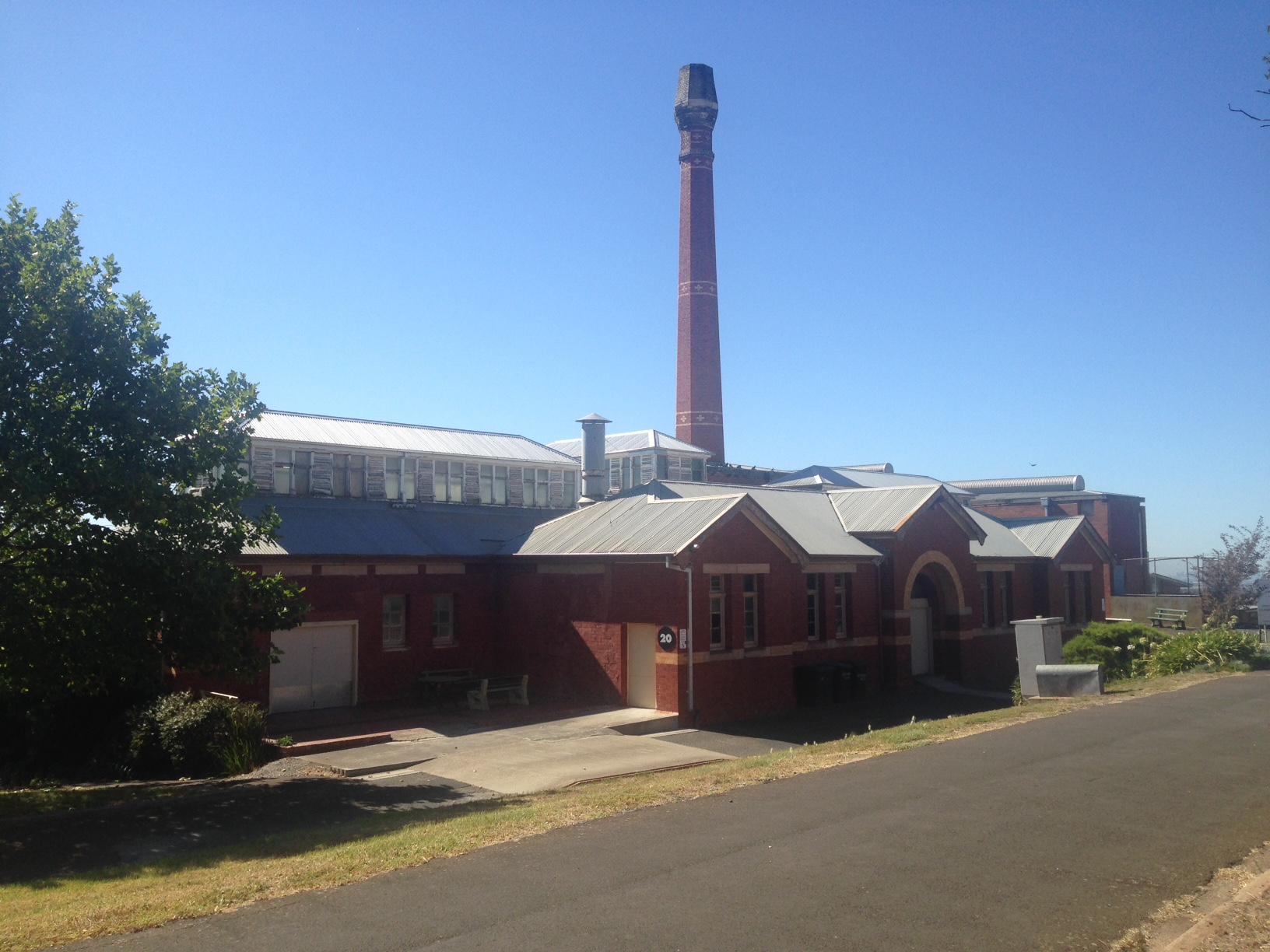 The Boilerhouse - Building 20. Look for the tall chimney!