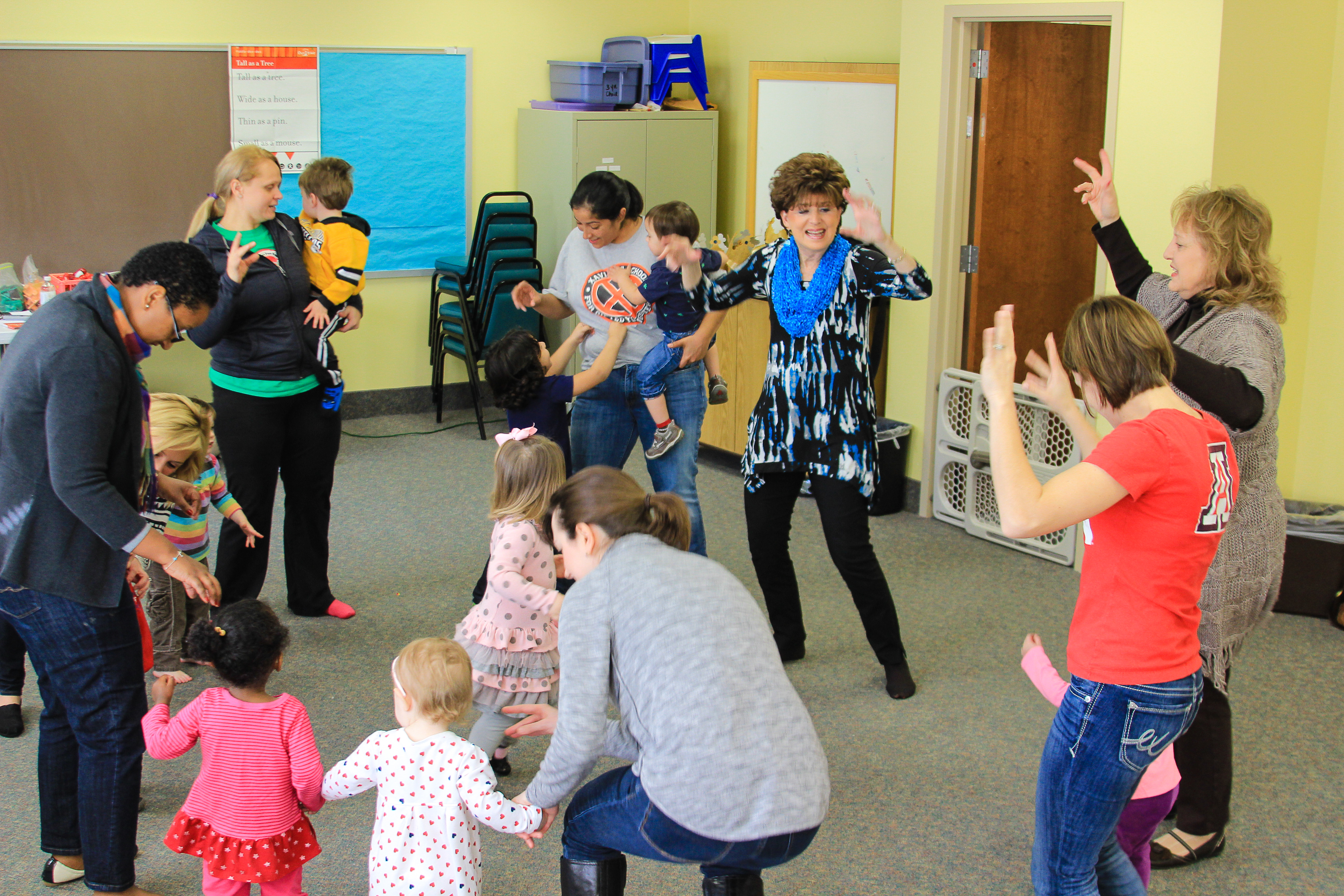 We have a great time wiggling our bodies in Wiggle and Grow